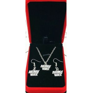 Jewelry - Army Wife necklace & Earring Set NEW